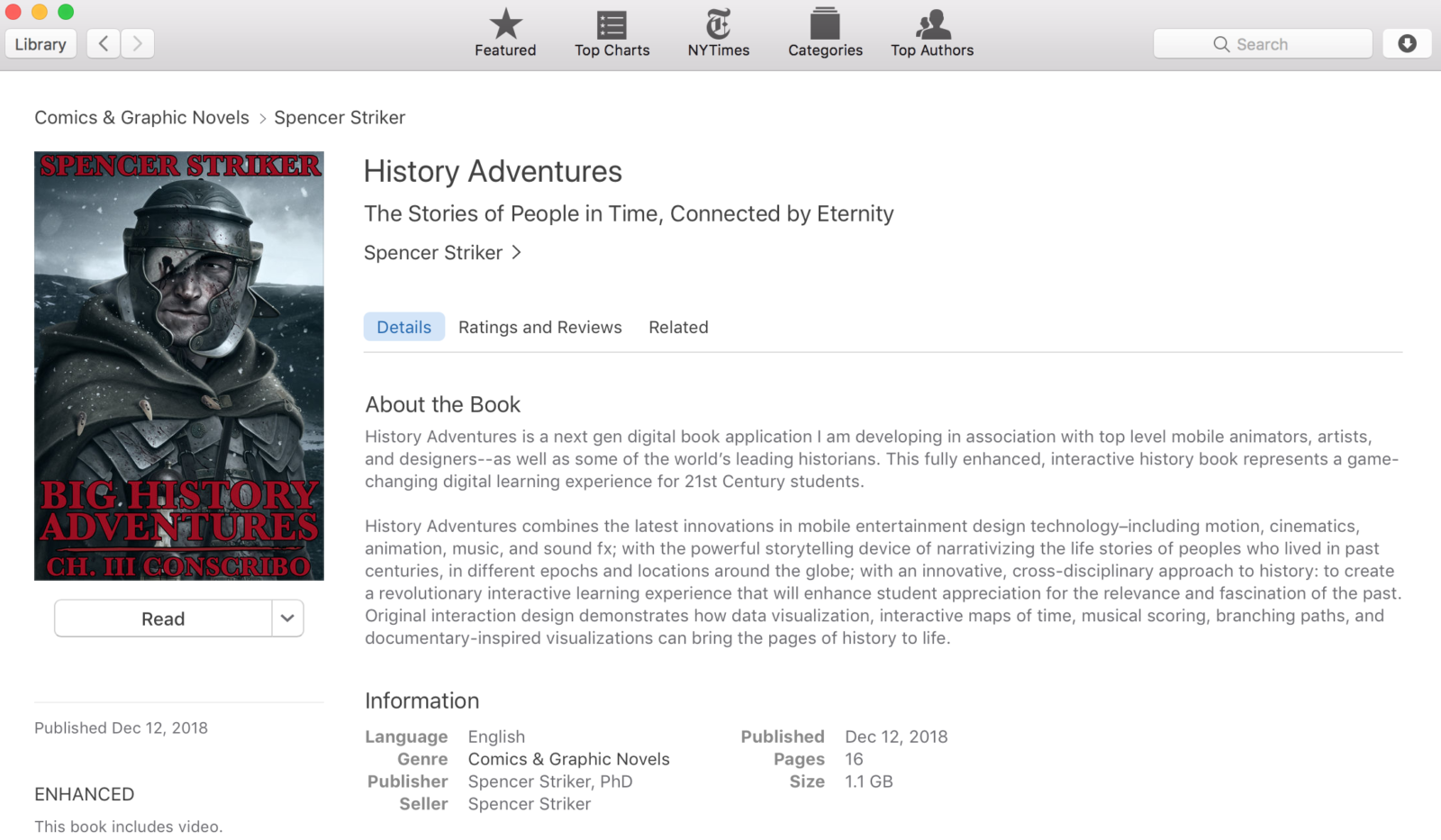 History Adventures - live on iBooks