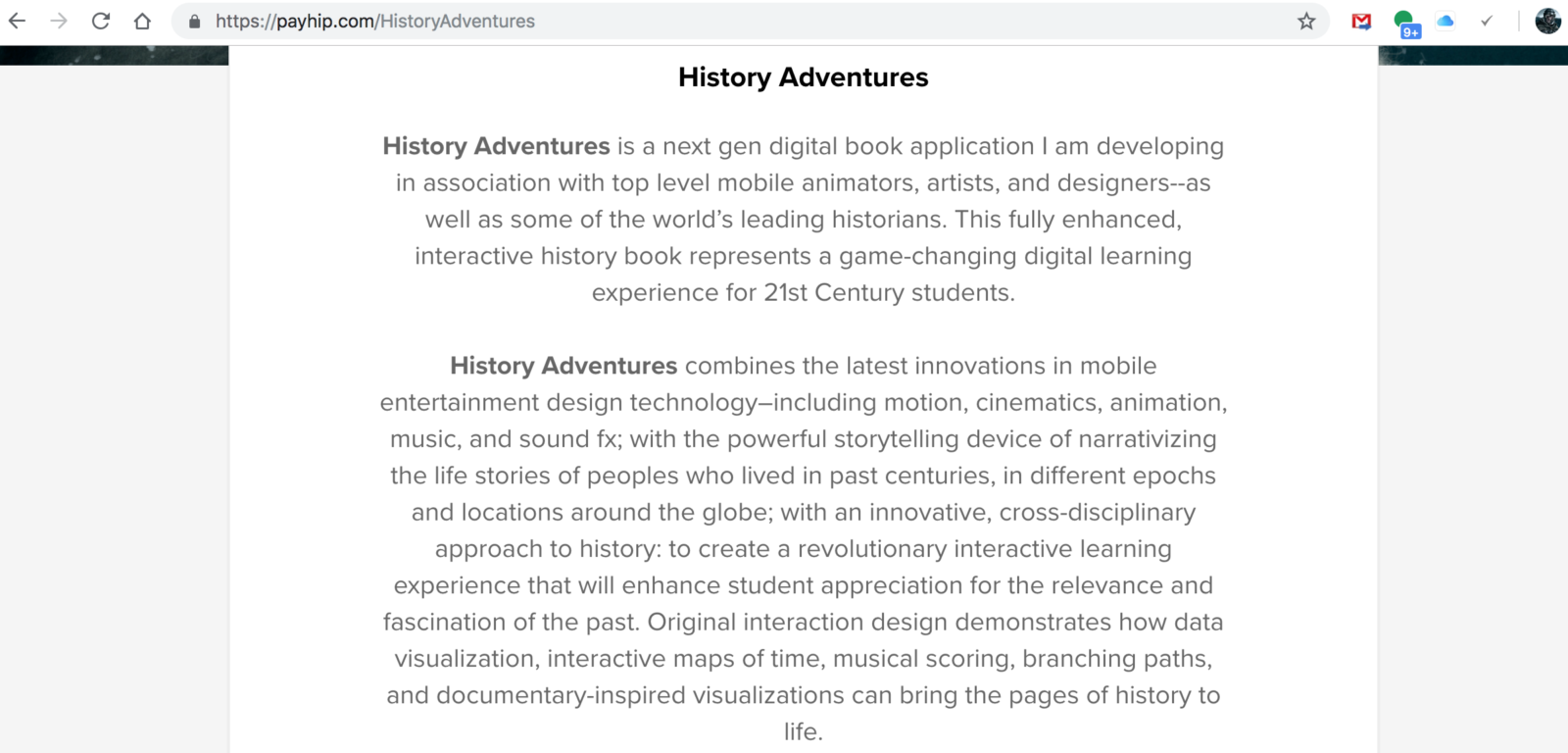 History Adventures Live on Payhip