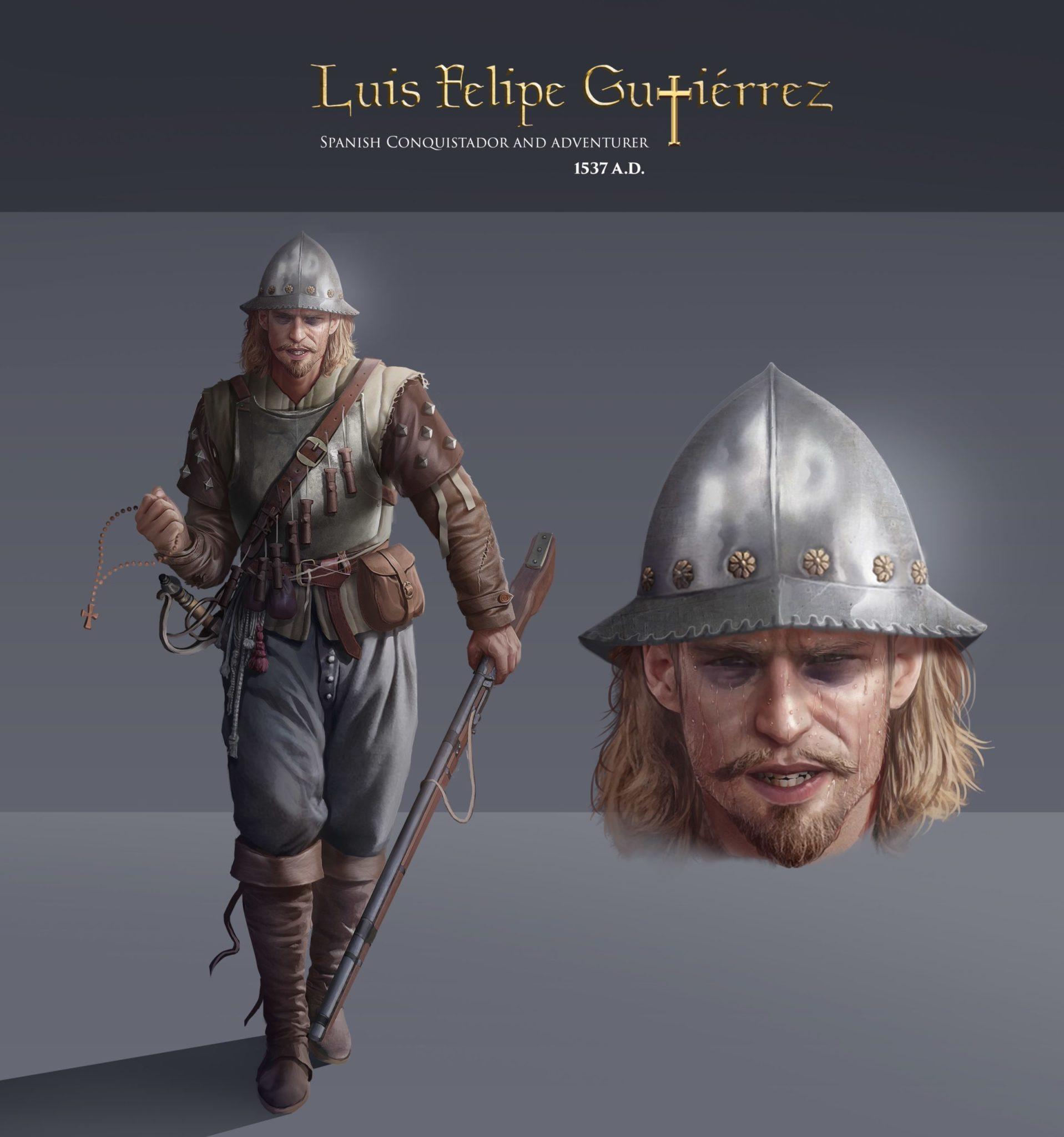 Luis Felipe Gutierrez, Spanish Conquistador, the New World (Modern Day, Peru), 1537 CE