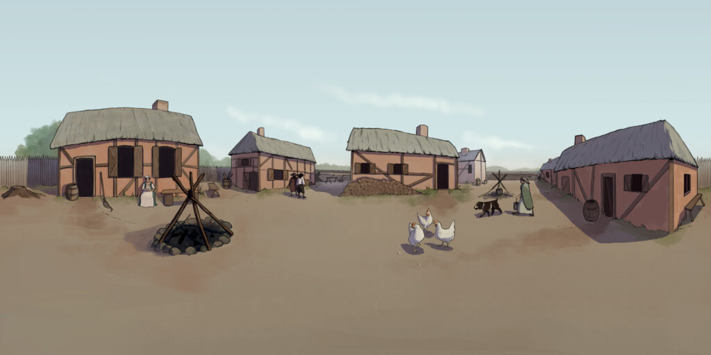 William Jamestown History Adventures 1619 Angolan Slavery Colonial America 360 degree panorama interactive