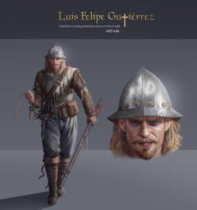 History Adventures Character: Luis Felipe Gutierrez, Spanish Conquistador, the New World (Modern Day, Peru), 1537 CE