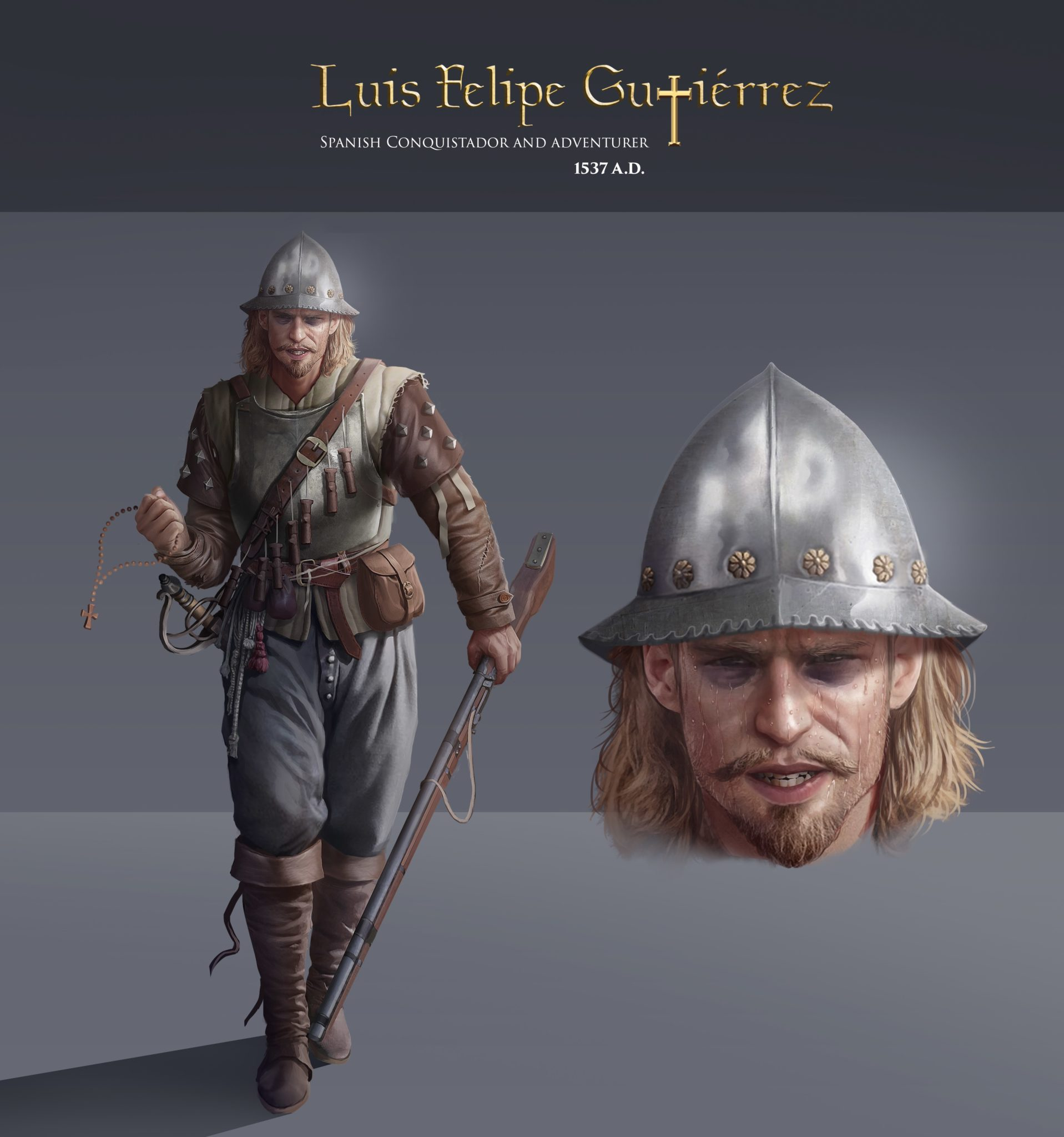 History Adventures Character: Luis Felipe Gutierrez, Spanish Conquistador, the New World (Modern Day, Peru), 1537 CE
